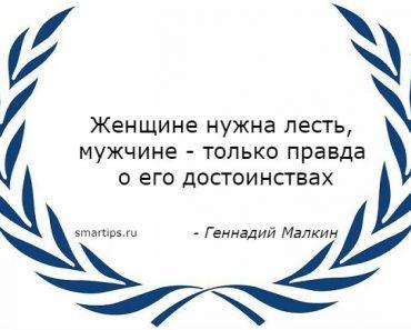 Цитаты Геннадий Малкин