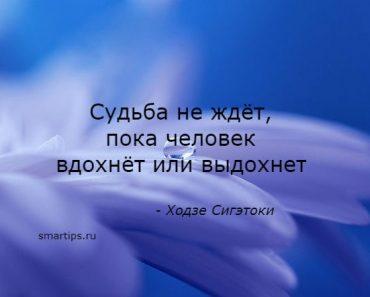 Цитаты Ходзе Сигэтоки