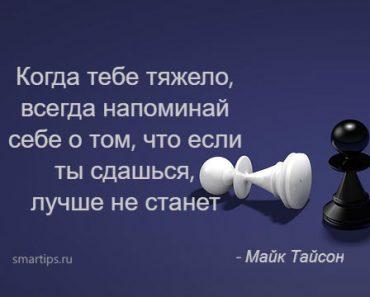Цитаты Майк Тайсон