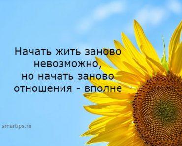 Начать жить заново невозможно, но начать заново отношения вполне